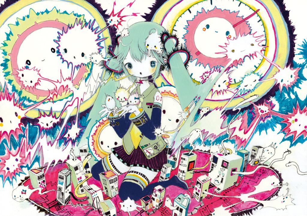 CD「MIKU-MIXTURE」 きくお×アトルス コラボレーション楽曲「なきむしでんき」のイメージ画